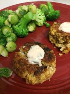tempeh, crabcakes, tempeh crabcakes, vegan crabcakes, tempeh crab-free cakes, vegan seafood, vegan recipe, vegan crab cake recipe