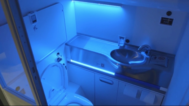 Boeing Self-Cleaning Bathroom Prototype
