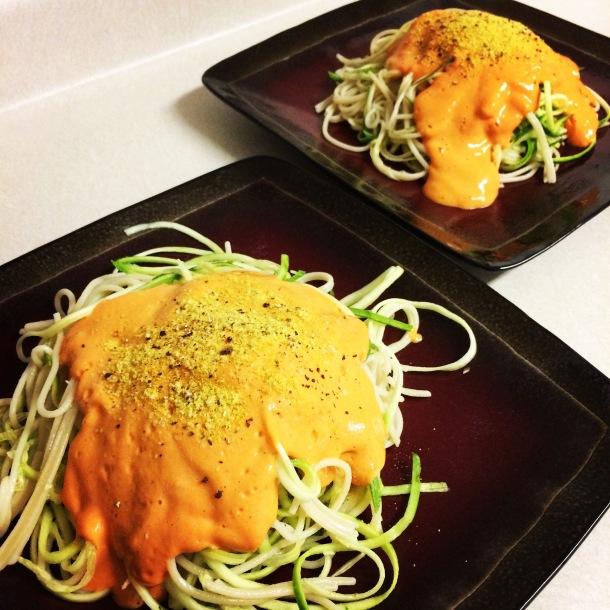 thug kitchen, vegan recipes, roasted red pepper, vegan alfredo, vegan pasta