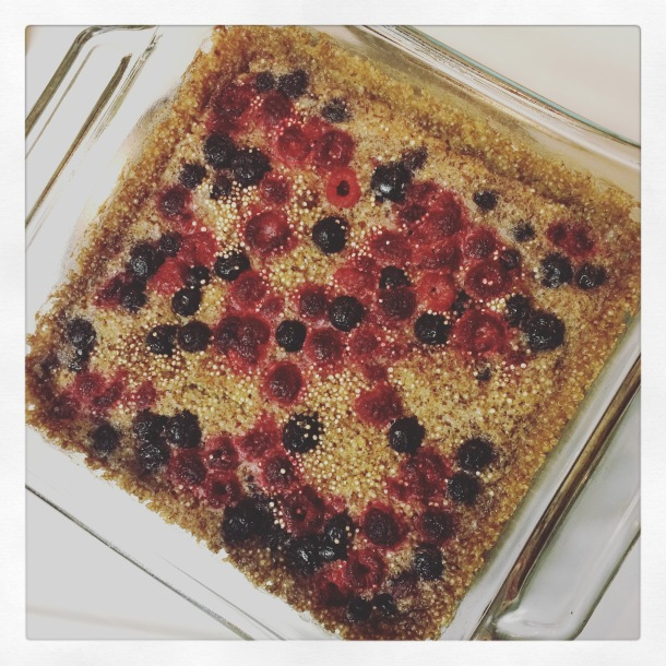 vegan, vegetarian, reset and restore, intuitive eating, vegan recipe, healthy eating, health, vegan lifestyle, berry bake, quinoa
